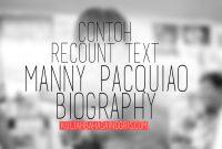 Contoh Recount Text & Terjemahannya: Manny Pacquiao Biography