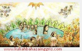 14 Cerita Rakyat Singkat: Jaka Tarub Dan 7 Bidadari Dalam Bahasa Inggris