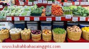 Percakapan Bahasa Inggris di Pasar Beserta Artinya