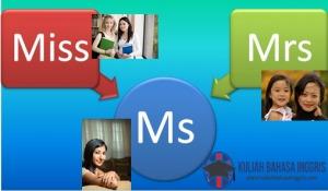 Perbedaan Antara Mrs., Miss., dan Ms. Dalam Bahasa Inggris