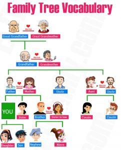 169 Kosakata Nama Anggota Keluarga Dalam Bahasa Inggris Beserta Artinya