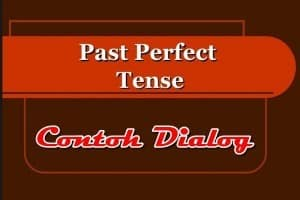 Contoh Dialog Past Perfect Tense Dalam Bahasa Inggris dan Artinya