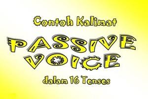 Contoh Kalimat Passive Voice Dalam 16 Tenses Bahasa Inggris Dan Artinya