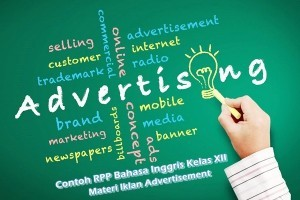 Contoh RPP Bahasa Inggris SMA Kelas XII Semester 1 Materi Iklan (Advertisement)