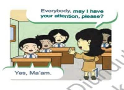 Contoh RPP Bahasa Inggris SMP Kelas 8 Kurikulum 2013 Meminta dan Merespon Perhatian