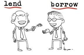 Penggunaan BORROW dan LEND dalam Bahasa Inggris Beserta Contoh Kalimatnya