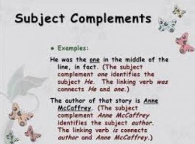 Pengertian Bentuk Dan Contoh Subject Complement Dalam