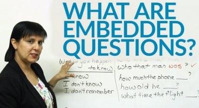 """Pengertian, Aturan Dan Contoh """"Embedded Questions"""" Dalam Bahasa Inggris"""