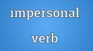 """Pengertian, Macam, Contoh """"Impersonal Verb"""" Dalam Kalimat Bahasa Inggris"""