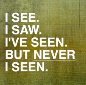 """Perbedaan Dan Penjelasan """"See, Saw, Seen, Sees"""" Dalam Kalimat Bahasa Inggris"""