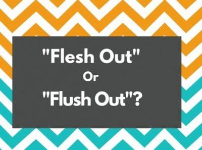 """Perbedaan Dan Contoh Kalimat Lengkap """"Flesh Out vs Flush Out"""" Dalam Bahasa Inggris"""