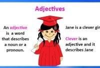 20 Contoh soal Adjective Beserta Jawaban Dalam Bahasa Inggris